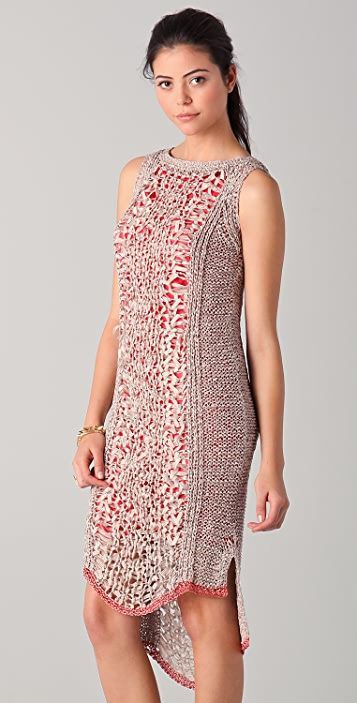 Rachel Roy Techno Tape Knit Dress