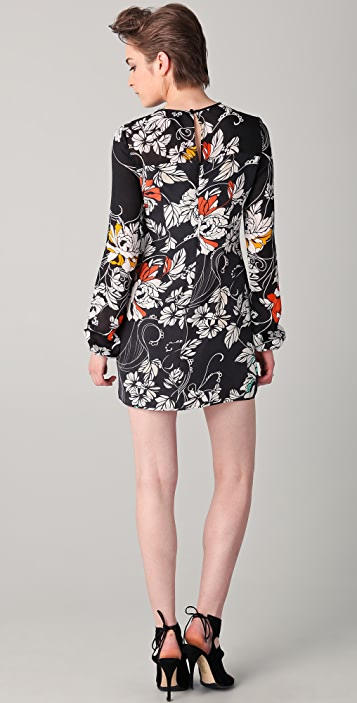 Rachel Roy Floral Volume Sleeve Dress