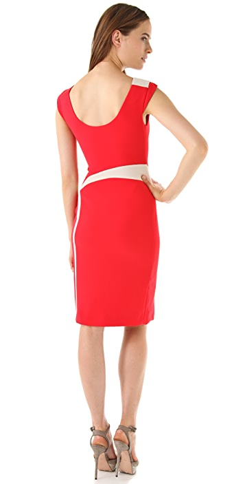 Rachel Roy Inset Crepe Dress