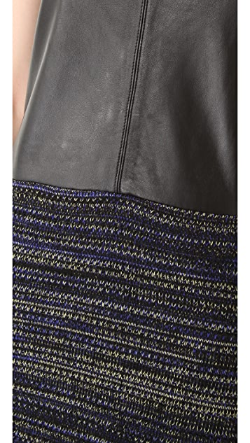 Rachel Roy Leather Mix Dress