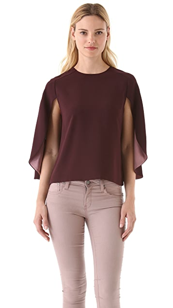 Rachel Roy Petal Cape Blouse