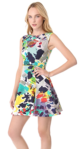 Rachel Roy Arts Stencil A-Line Dress