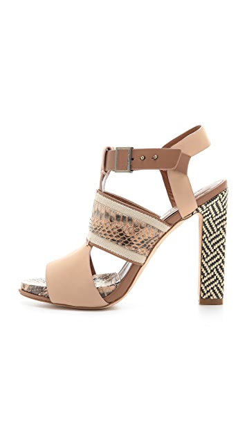 Rachel Roy Faye Mixed Media Sandals
