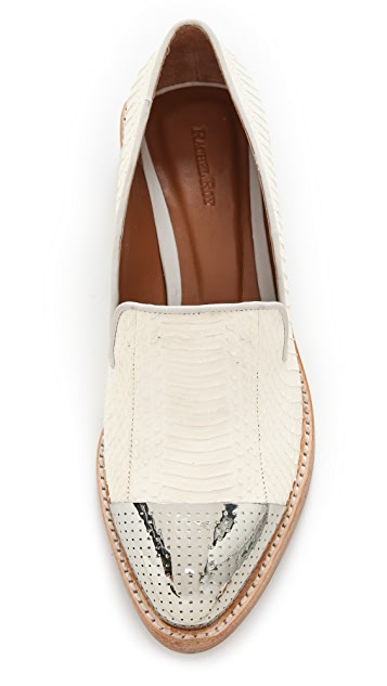 Rachel Roy Lane Snake Menswear Flats
