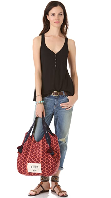 Rachel Roy Limited Edition FEED India Tote Bag