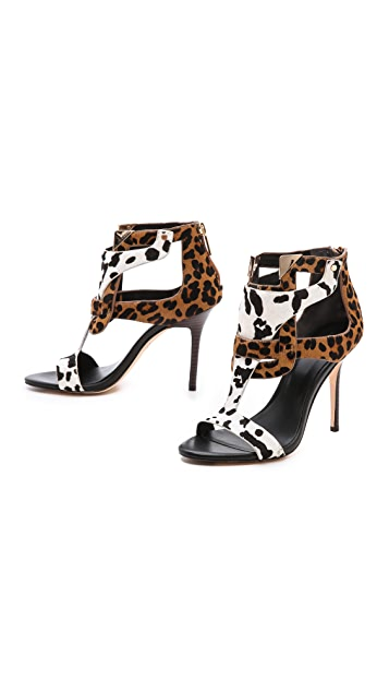 Rachel Roy Larson Cutout Haircalf Sandals