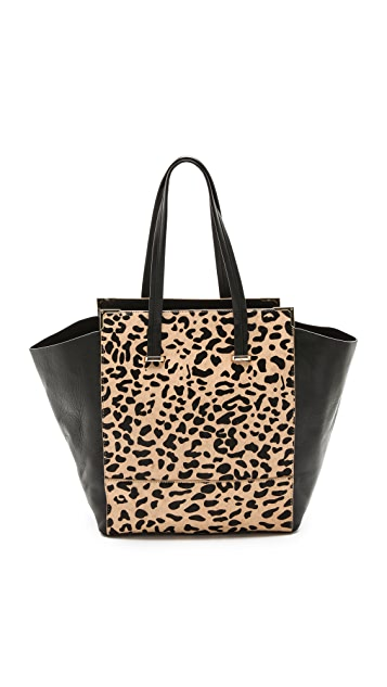 Rachael Ruddick Leopard Haircalf Shopper Bag