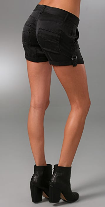 Rich & Skinny Militia Silk Shorts