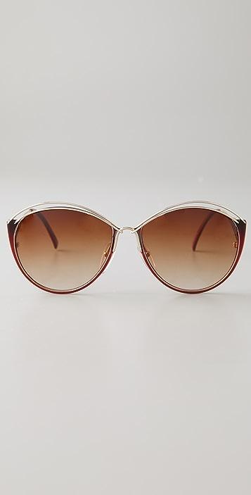 Retrosun Vintage Christian Dior Wire Sunglasses