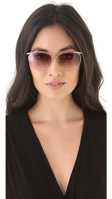 Retrosun Vintage YSL Metal Cat Eye Sunglasses