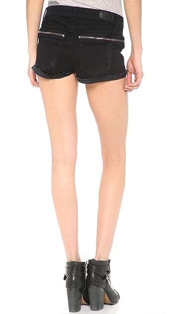 RtA Hip Zip Cutoff Shorts