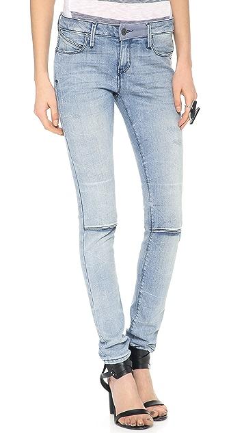 RtA Knee Slit Moto Jeans