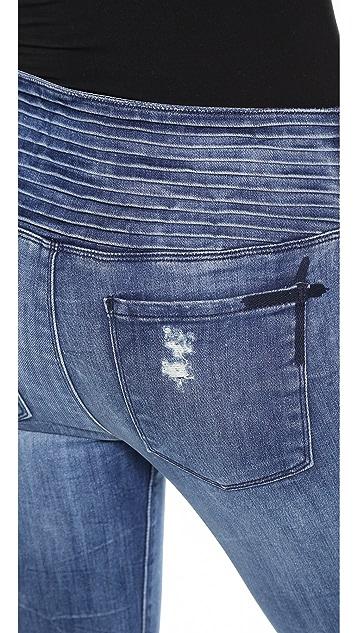 RtA High Waisted Pleated Jeans