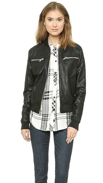 RtA Leather Bomber Jacket