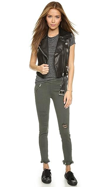 RtA Mila Skinny Frayed Jeans