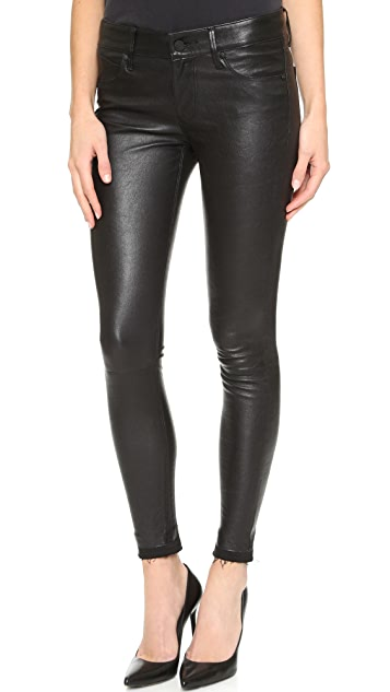 RtA Prince Leather Jeans