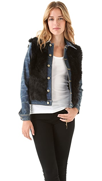 R13 Shearling & Denim Jacket