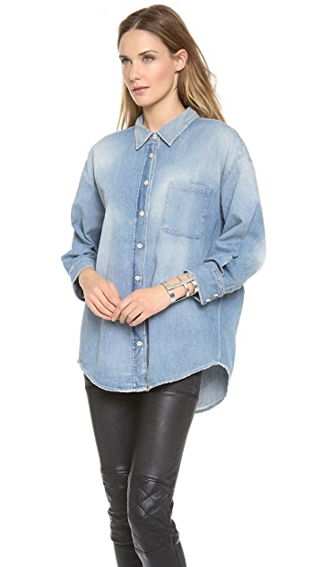 R13 Oversized Denim Shirt