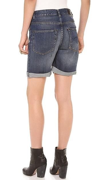 R13 Oversized Denim Shorts