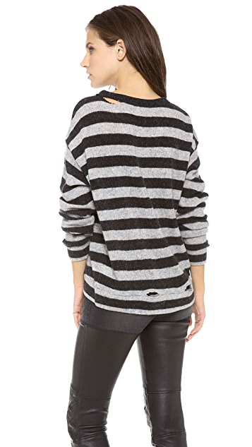 R13 Kate Distressed Pullover