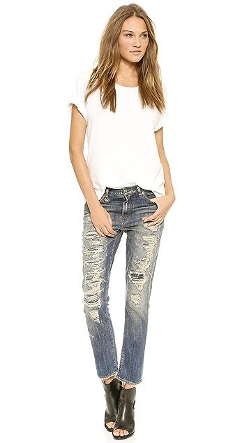 R13 Shredded Slouchy Skinny Jeans