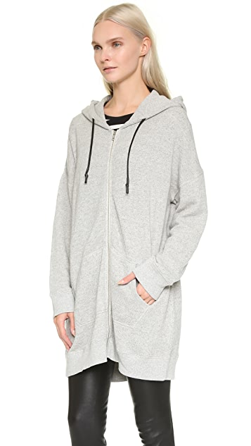 R13 Long Hooded Sweatshirt