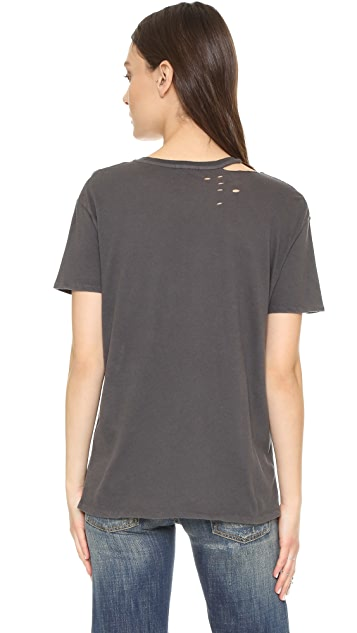 R13 Ripped Neck Punk Tee