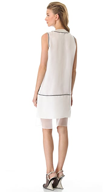 Rue du Mail Embroidered Tank Dress