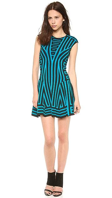 RVN Graphic Stripe Flare Dress