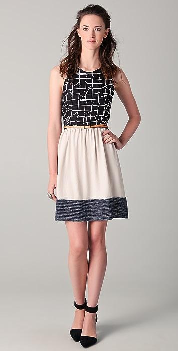 Sachin & Babi Emma Belted Combo Dress