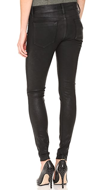 MODERNSAINTS Coated Peg Leg Jeans