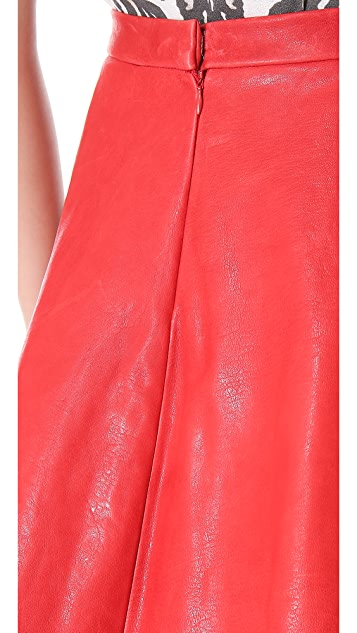 Sally LaPointe A Line Leather Skirt