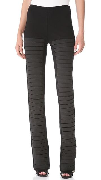 Sally LaPointe Elastic Strap Pants