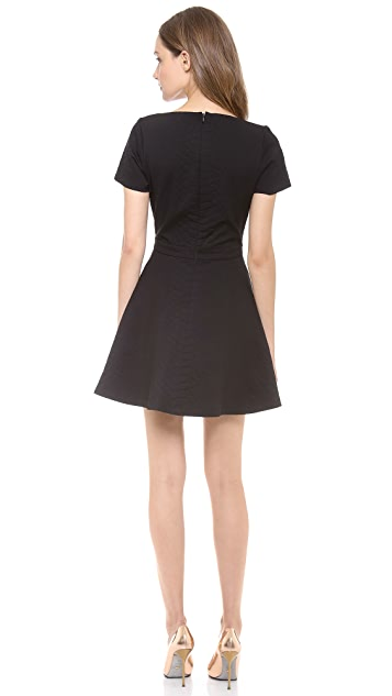Sally LaPointe Snake Jacquard Knit Dress