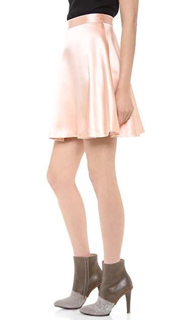Sally LaPointe Crepe Back Satin Skirt