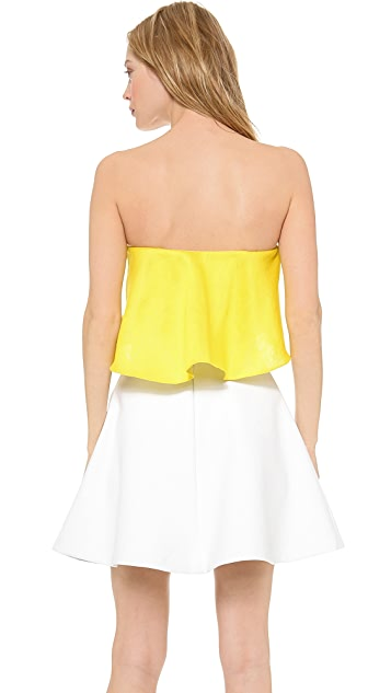 Sally LaPointe Flare Bustier Top
