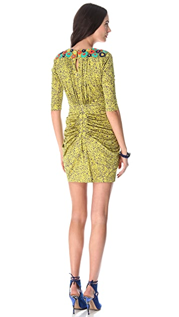 Saloni Cosima Embroidered Dress
