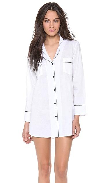 Salua Boyfriend Pajama Shirt