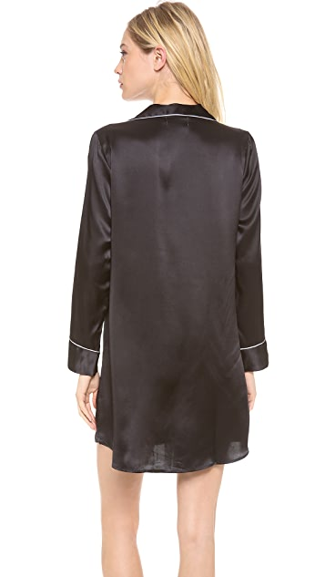 Salua Silk Boyfriend Sleep Shirt