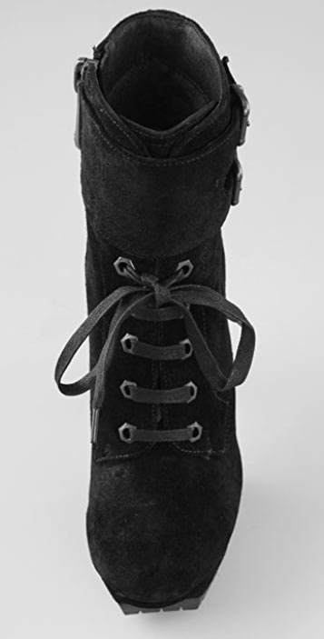 Sam Edelman Vancouver Lace Up Suede Booties