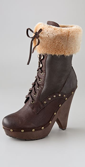 Sam Edelman Winsford Lace Up Clog Booties