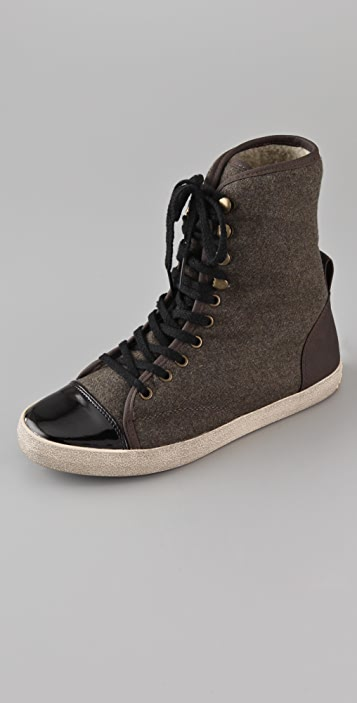 Sam Edelman Cori Sherpa High Top Sneakers