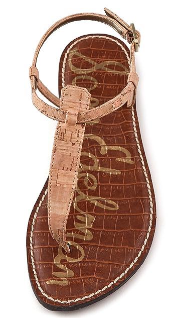 Sam Edelman Gigi Cork T Strap Flat Sandals