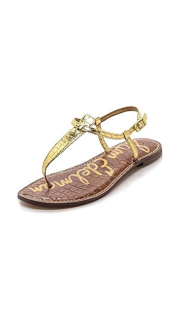 905295ab838226 Sam Edelman Gigi T Strap Flat Sandals