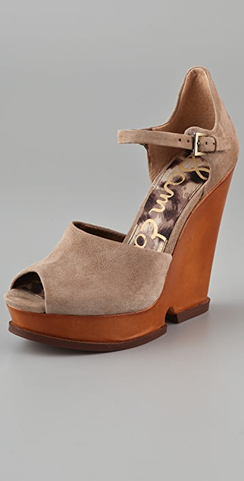 Sam Edelman Suede Cutout Wedges visit new cheap price collections sale online professional free shipping shop wESXEGOA