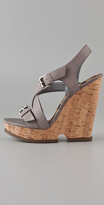 Sam Edelman Josie Cutout Cork Platform Sandals