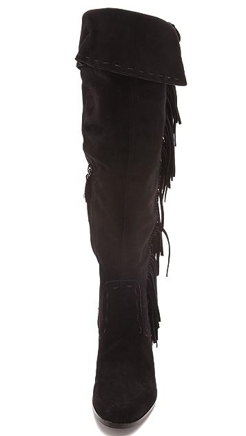 Sam Edelman Luella Over the Knee Fringe Boots