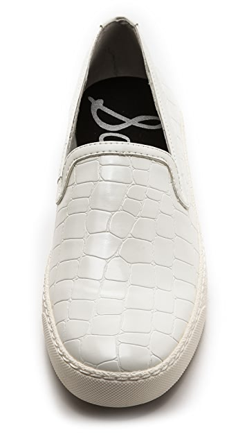 Sam Edelman Becker Croc Embossed Sneakers