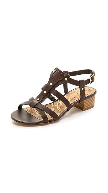 e76b69e6fd8d Sam Edelman Angela Low Heel Sandals