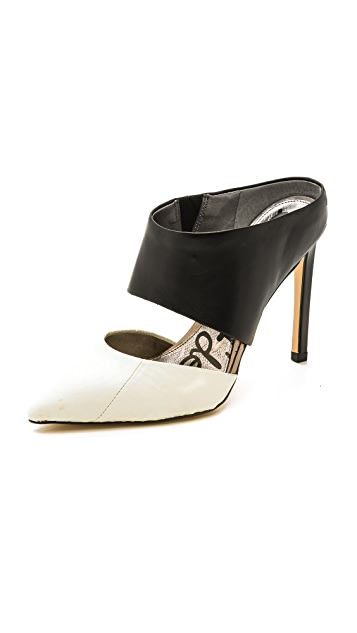 Sam Edelman Snakeskin Pointed-Toe Mules free shipping amazing price cheap sale great deals cheap deals hzbgd